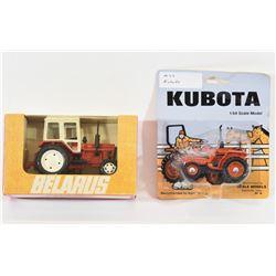 Die Cast Kubota and Belarus Tractors