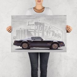 """NO RESERVE LIMITED EDITION PRINT """"SMOKEY AND THE BANDIT TRANS AM"""""""