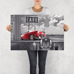 "NO RESERVE LIMITED EDITION PRINT ""CHEVROLET BEL AIR"""