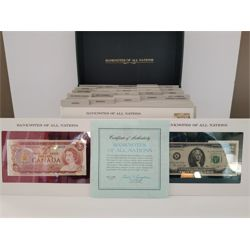 RARE COLLECTIBLE 1980 BANK NOTES AND 1ST DAY STAMPS OF ALL NATIONS