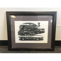 NO RESERVE FRAMED ROUTE 66 PRINT