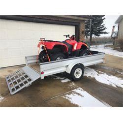 2008 ARCTIC CAT 500 AUTO 4x4 ATV INCLUDING TRAILER AND SNOW PLOW