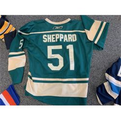 NO RESERVE AUTOGRAPHED RAY SHEPPARD CAROLINA HURRICANES/HARTFORD WHALERS COMMEMORATIVE HOCKEY JERSEY