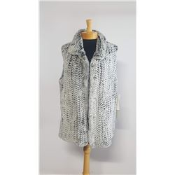 Courtesy of Muscalus Furs a Beautiful Grey Rex Knitted Vest