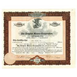 Templar Motors Corp. 1920 I/U Stock Certificate