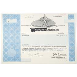 Winnebago Industries, Inc. 1989 Specimen Stock Certificate