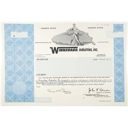 Winnebago Industries, Inc. 1989 Specimen Stock Certificate
