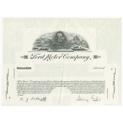 Ford Motor Co. ca.1940-50's Progress Proof Stock Certificate with Facsimile Signature of Henry Ford