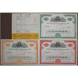Ford Motor Co., 1959 Production department Specimen Stock Certificate Trio with Production Correspon