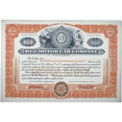 REO Motor Car Co., 1920's Specimen Stock Certificate