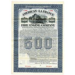 American-La France Fire Engine Co., 1904 Specimen Bond