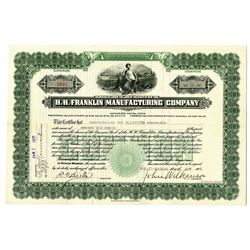 H.H. Franklin Manufacturing Co. 1921 I/U Stock Certificate
