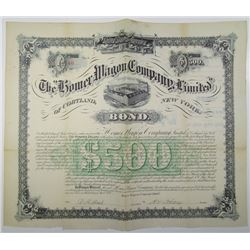 Homer Wagon Co., Ltd. 1889 I/U Bond