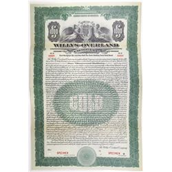 Willys-Overland Co. 1923 Specimen Bond