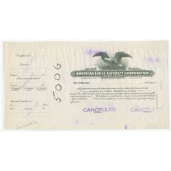 American Eagle Aircraft Corp., ca. 1920-1930s Proof Stock Certificate