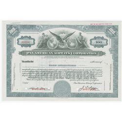 Pan American Airways Corp., ca.1930-40s Specimen Stock Certificate