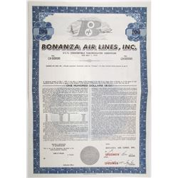 Bonanza Air Lines, Inc. 1965 Specimen Bond