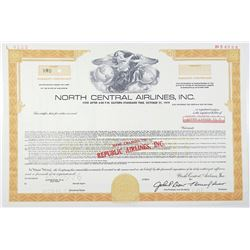 North Central Airlines, Inc. (Name Changed to Republic Airlines) 1976 Specimen Warrant Certificate