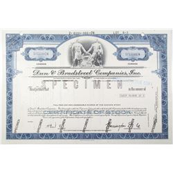 Dun & Bradstreet Co., Inc. 1978 Specimen Stock Certificate