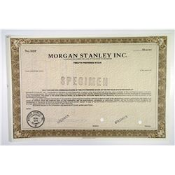 Morgan Stanley Inc., 1979 Specimen Stock Certificate