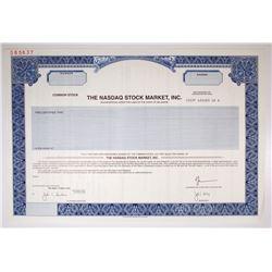 Nasdaq Stock Market, Inc. 2000 Specimen IPO Stock Certificate