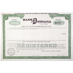 Bank of Indiana, National Association 1971 Specimen Bond