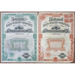 National Loan and Trust Co., 1887 & International Loan and Trust Co., 1889 and Serial #1 Bond Duo