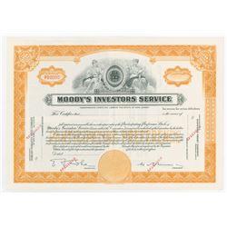 Moody's Investors Service, 1914 Specimen Stock Certificate