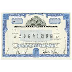 American Express Co. 1988 Specimen Stock Certificate