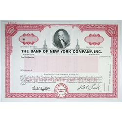 Bank of New York Co., Inc., 1993 Specimen Stock Certificate