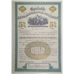 Equitable Life Assurance Society, ND (1900-1920) Specimen Bond