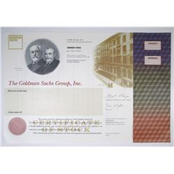 Goldman Sachs Group, Inc.. 1998 IPO Specimen Stock Certificate