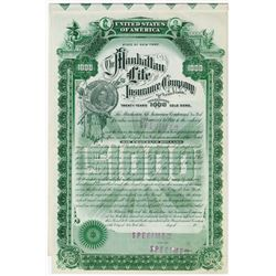 Manhattan Life Insurance Co., ca.1900-1920 Specimen Bond