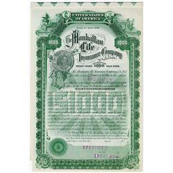 Manhattan Life Insurance Co., ca.1900-1920 Specimen Bond