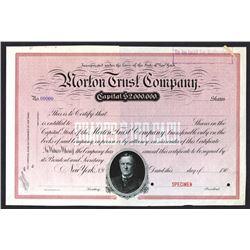 Morton Trust Co. 1900 Specimen Stock Certificate