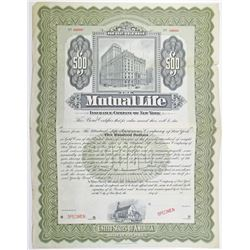 Mutual Life Insurance Co. of New York 1904 Bond
