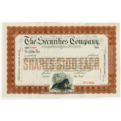 Securities Company, 1890-1900 Specimen Stock Certificate