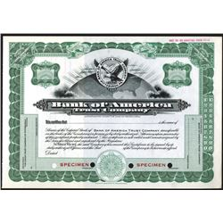 Bank of America Trust Co., ca.1920-1930 Specimen Stock Certificate