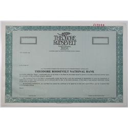 Theodore Roosevelt National Bank 1989 Specimen Stock Certificate