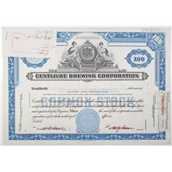 Centlivre Brewing Corp. 1950 Approval Proof Stock Certificate