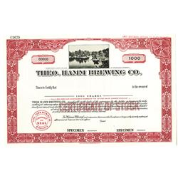 Theo. Hamm Brewing Co., 1950-60's Specimen Stock Certificate