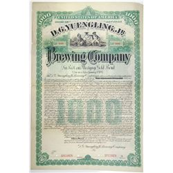 D. G. Yuengling, Jr. Brewing Co. 1887 Specimen Bond Rarity