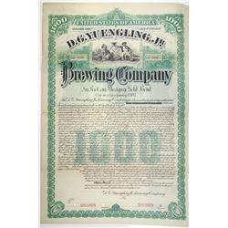D. G. Yuengling, Jr. Brewing Co. 1887 Specimen Bond Rarity