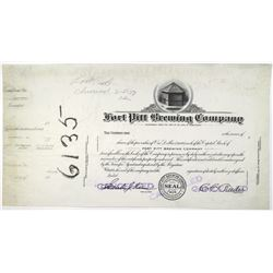 Fort Pitt Brewing Co. 1937 Progress Proof Stock Certificate