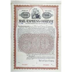 Mail and Express Co. 1907 Specimen Bond