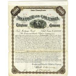 Montour and Columbia Telephone Co. 1900 I/U Bond
