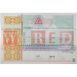 WIRED, ND (ca.1993-98) Specimen Stock Certificate and Possible IPO Stock Certificate.
