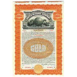 United Message Company 1905 Specimen Bond