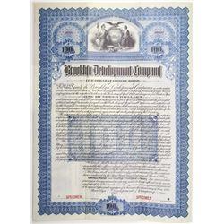 Brooklyn Development Co. 1899 Specimen Bond