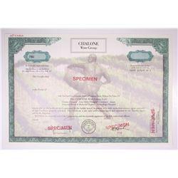 Chalone Wine Group, Ltd., Specimen Stock Certificate